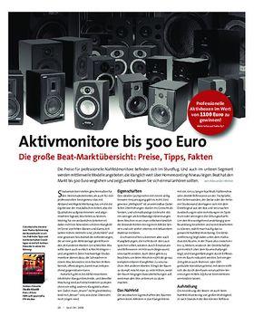 Aktivmonitore bis 500 Euro Die große Beat-Marktübersicht: Preise, Tipps, Fakten