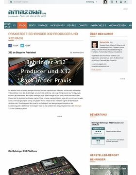Behringer X32 Producer und X32 Rack