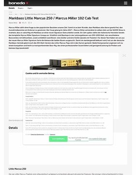 Markbass Little Marcus 250 / Marcus Miller 102 Cab