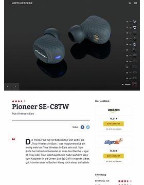 Pioneer SE-C8TW Black