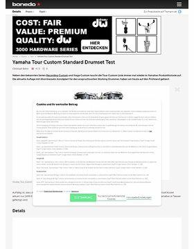 Yamaha Tour Custom Standard Drumset