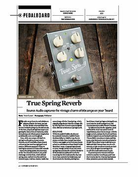 True spring Reverb