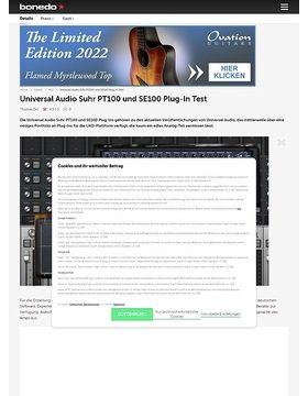 Universal Audio Suhr PT100 und SE100 Plug-In