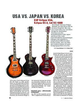 ESP Eclipse USA, Eclipse EC-2, Ltd EC-1000, E-Gitarren