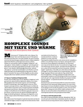 Meinl Byzance Monophonic und Polyphonic Ride Cymbals