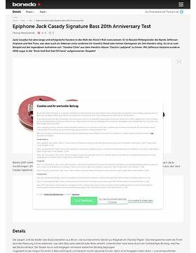 Epiphone Jack Casady Signature Bass 20th Anniversary