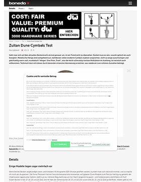 Zultan Dune Cymbals