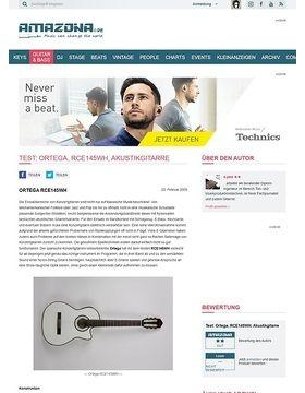 Test: Ortega, RCE145WH, Akustikgitarre