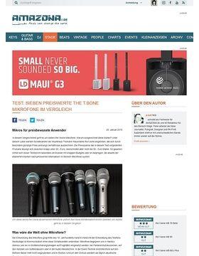 Sieben preiswerte the t.bone Mikrofone im Vergleich