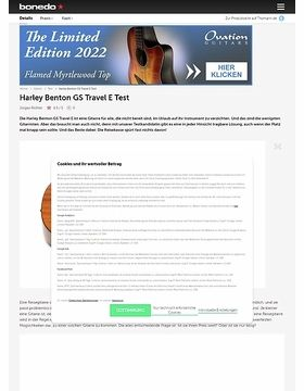 Harley Benton GS Travel E