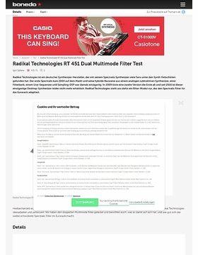 Radikal Technologies RT 451 Dual Multimode Filter