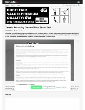 Yamaha Recording Custom Wood Snares