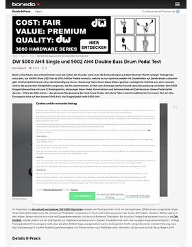 DW 5000 AH4 Single und 5002 AH4 Double Bass Drum Pedal