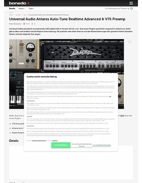 Universal Audio Antares Auto-Tune Realtime Advanced, brainworx Diezel Herbert Amplifier & V76 Preamp