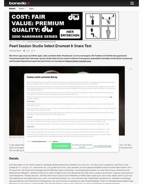 Pearl Session Studio Select Drumset & Snare Test