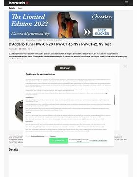 D'Addario Tuner PW-CT-20 / PW-CT-15 NS / PW-CT-21 NS