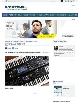 Yamaha MODX6 und Roland FA-06 im Coverband-Kontext