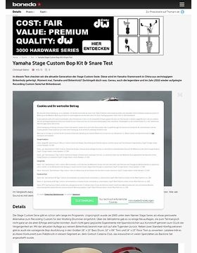 Yamaha Stage Custom Bop Kit & Snare