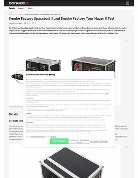 Smoke Factory Spaceball II und Smoke Factory Tour Hazer II