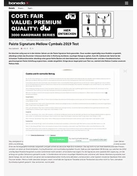 Paiste Signature Mellow Cymbals 2019