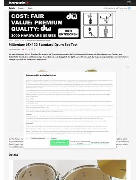 Millenium MX422 Standard Drum Set