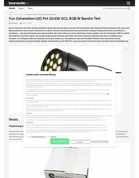 Fun Generation LED Pot 12x1W QCL RGB W Bundle