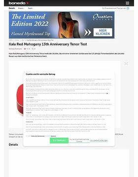 Kala Red Mahogany 13th Anniversary Tenor