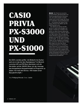 Casio Privia PX-S3000 und PX-S1000