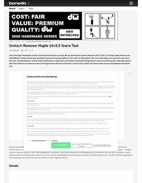 Gretsch Renown Maple 14x5,5 Snare