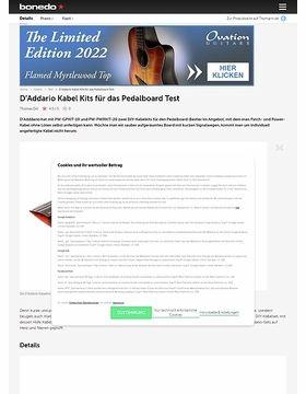 D'Addario Kabel Kits für das Pedalboard
