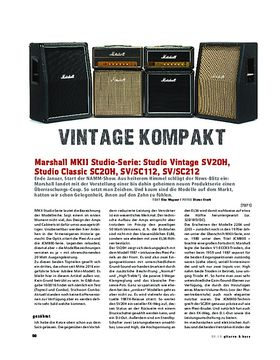 Marshall Studio Vintage SV20H, Studio Classic SC20H, SV/SC112, SV/SC212
