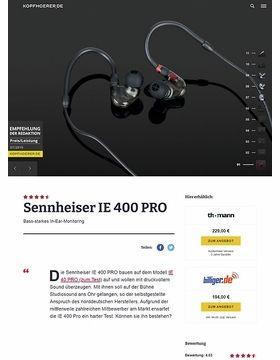 Sennheiser IE 400 Pro SBK