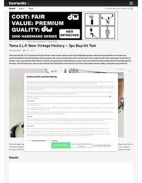 Tama S.L.P. New-Vintage Hickory Bop 3pc Kit