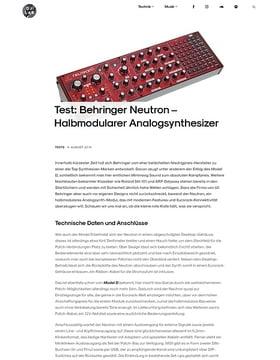 Behringer Neutron