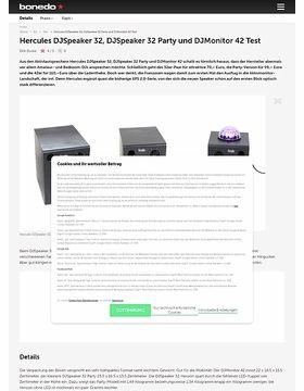 Hercules DJSpeaker 32, DJSpeaker 32 Party und DJMonitor 42