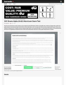 SJC Drums Alpha 14x6,5 Aluminum Snare