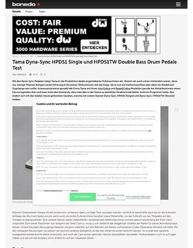 Tama Dyna-Sync HPDS1 Single- und HPDS1TW Double Bass Drum Pedal