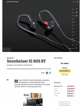 Sennheiser IE 80S BT