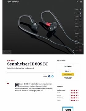 Sennheiser IE 80S BT