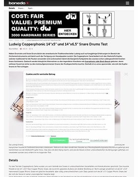 "Ludwig Copperphonic 14""x5"" und 14""x6,5"" Snare Drums"