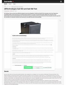 dB Technologies Sub 915 und Sub 918