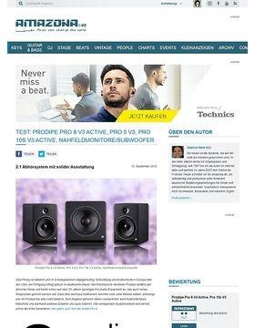 Prodipe Pro 8 V3 Active, Pro 5 V3, Pro 10s V3 Active, Nahfeldmonitore/Subwoofer