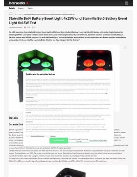 Stairville Bel4 Battery Event Light 4x15W und Stairville Bel6 Battery Event Light 6x15W
