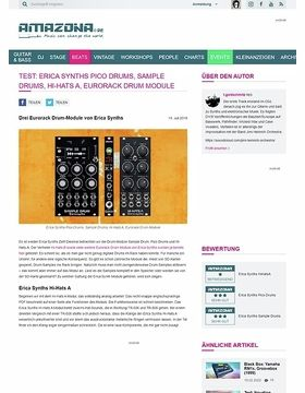 Erica Synths Pico Drums, Sample Drums, Hi-Hats A
