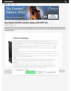 Boss Katana 50 MKII und Boss Katana 100 MKII