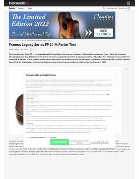 Framus Legacy Series FP 14 M Parlor