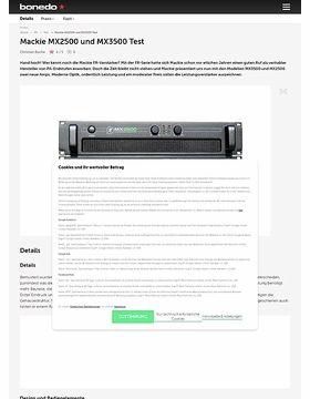 Mackie MX2500 und MX3500