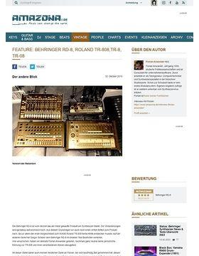 Vergleichstest: Behringer RD-8, Roland TR-808, TR-8 und TR-08