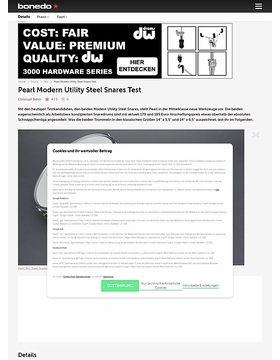 Pearl Modern Utility Steel Snares