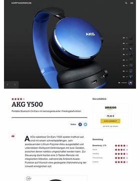 AKG by Samsung Y500 Blue